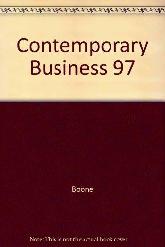 9780030231896: Contemporary Business 97