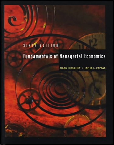 Fundamentals of Managerial Economics with ABC Software: Mark Hirschey