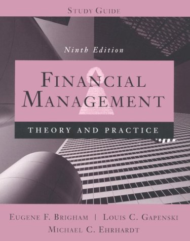 9780030233678: Financial Management: Theory and Practice (9th Edition, Study Guide)