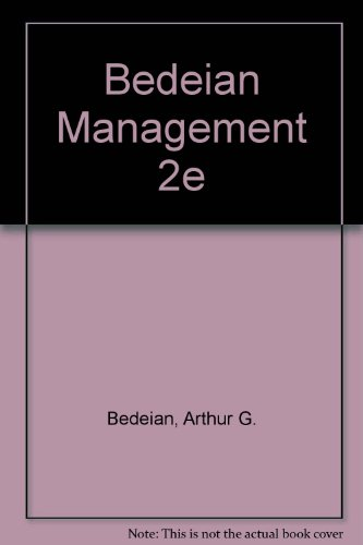 9780030234132: Management (The Dryden Press series in management)