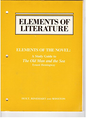 9780030234521: Elements of the Novel: A Study Guide to
