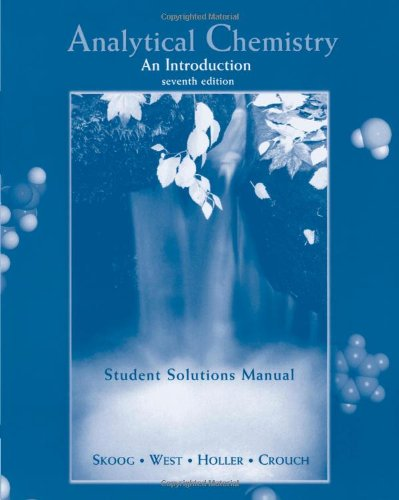 9780030234927: Analytical Chemistry An Introduction (Student Solutions Manual)