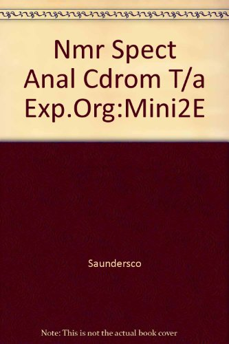9780030235344: Nmr Spect Anal Cdrom T/a Exp.Org:Mini2E