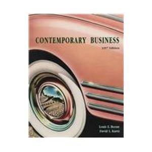 9780030235719: Contemporary Business