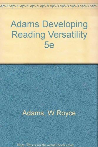 9780030237393: Developing Reading Versatility