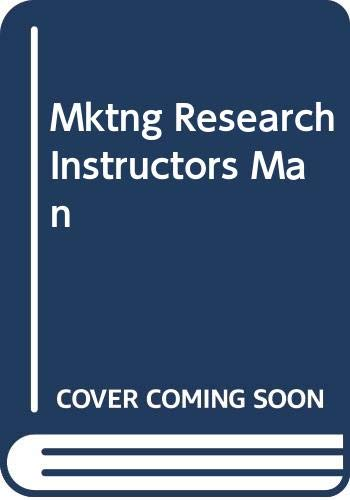 9780030238178: Mktng Research Instructors Man