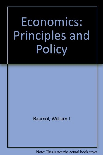 9780030239311: Economics: Principles and Policy