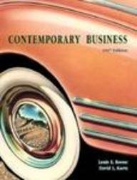 9780030242489: Contemporary Business: 1997 Edition