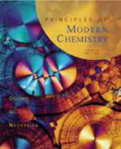 9780030244278: Principles of Modern Chemistry (Saunders golden sunburst series)