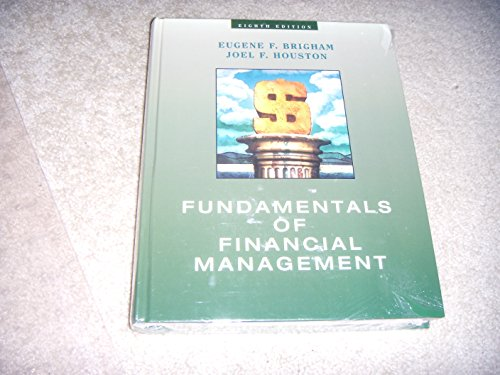 9780030244377: Fundamentals of Financial Management (8th Edition) 1998