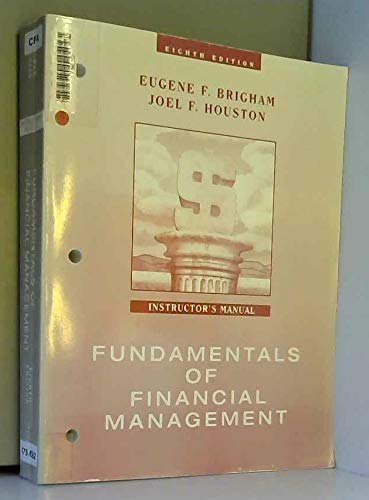 9780030244384: Answer Guide to Fundamentals of Financial Management