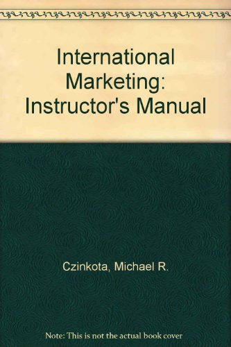 9780030244674: International Marketing