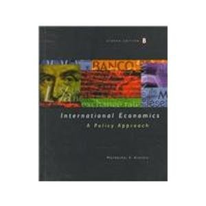 9780030245817: International Economics: A Policy Approach