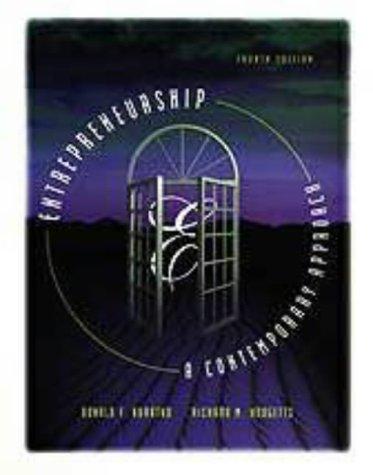9780030245947: ENTREPRENEURSHIP 4E (The Dryden Press Series in Entrepreneurship)