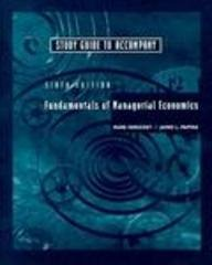 9780030245978: Study Guide to Accompany Fundamentals of Managerial Economics, 6th Edition