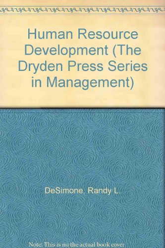 9780030246128: HUMAN RESOURCE DEVELOPMENT 2E (The Dryden Press Series in Management)