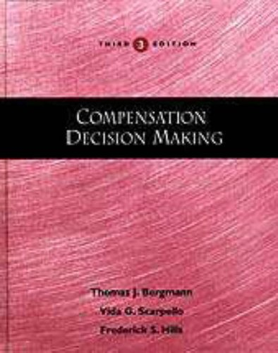 9780030246340: COMPENSATION DECISION MAKING,3E (Dryden Press Series in Management)