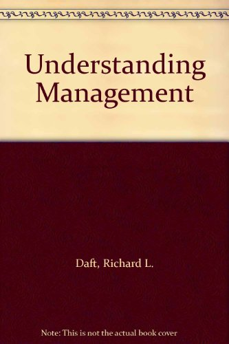 9780030247361: Understanding Management