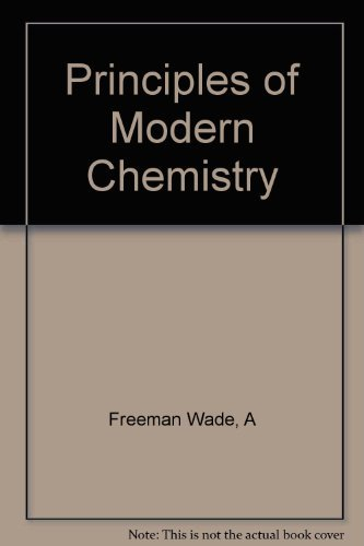 9780030247514: Principles of Modern Chemistry (Study Guide and Solutions Manual)