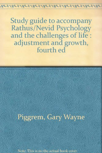 9780030254673: Study guide to accompany Rathus/Nevid Psychology and the challenges of life : adjustment and growth, fourth ed