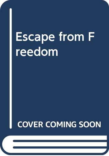 9780030255250: Escape from Freedom