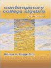 9780030256219: Contemporary College Algebra