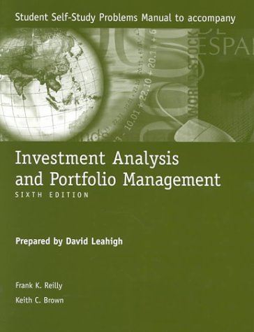 9780030258060: Investment Analysis and Portfolio Management: Student Self-Study Problems Manual