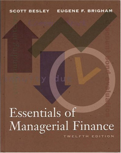 9780030258725: Essentials of Managerial Finance (The Dryden Press Series in Finance)