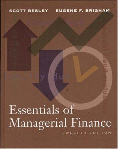 Essentials of Managerial Finance (The Dryden Press: Scott Besley, Eugene
