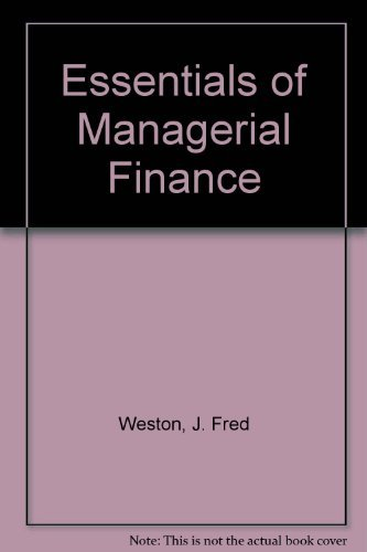 9780030258749: Essentials of Managerial Finance