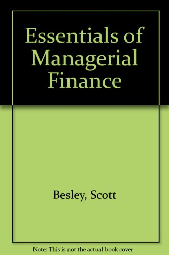 9780030258770: Essentials of Managerial Finance