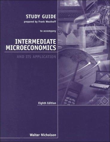 9780030259180: Intermediate Microeconomics Study Guide