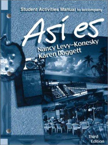 9780030259319: Asi es, Student Activities Manual to Accompany