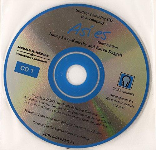 9780030259371: Asi es Text Audio CD