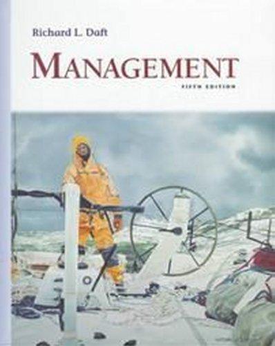 Management (Dryden Press Series in Management): Richard L. Daft