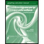 Graphing Calculator Manual to Accompany Contemporary Precalculus: Thomas Hungerford