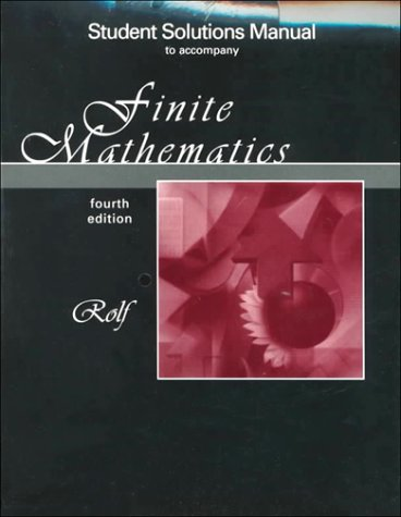 9780030261411: Finite Mathematics