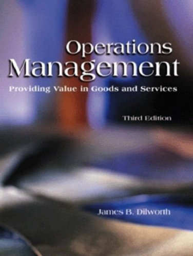 9780030262074: Operations Management: Providing Value in Goods and Services