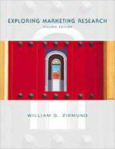 Exploring Marketing Research: William G. Zikmund