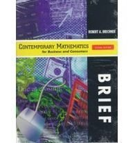 9780030262494: Contemporary Mathematics for Business and Consumers, Brief Edition