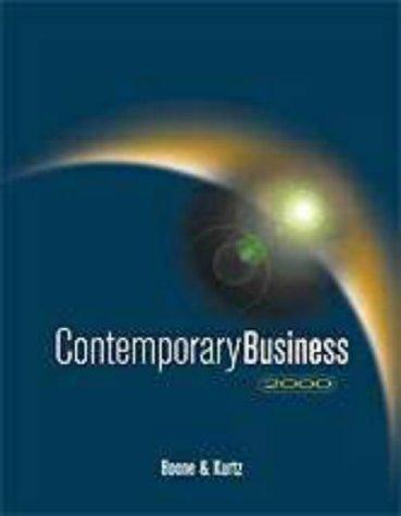 9780030262562: Contemporary Business 2000