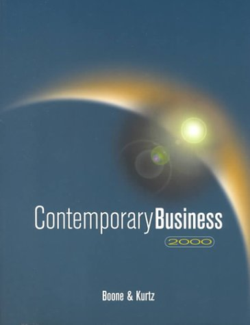 9780030262562: Contemporary Business 2000 (The Dryden Press series in management)