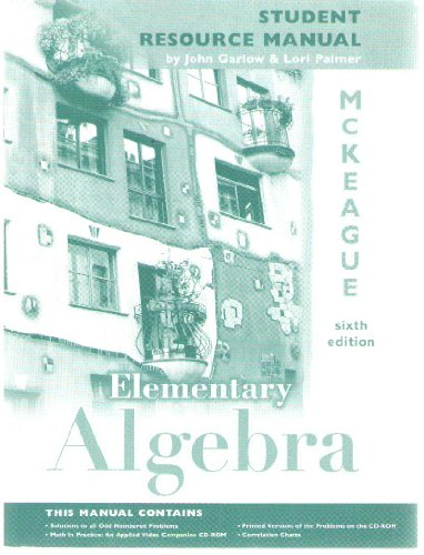 9780030262845: Student resource manual to accompany Elementary algebra, sixth edition, by Charles P. McKeague