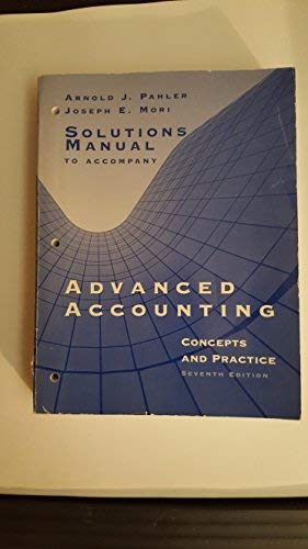 9780030264016: Advanced Accounting