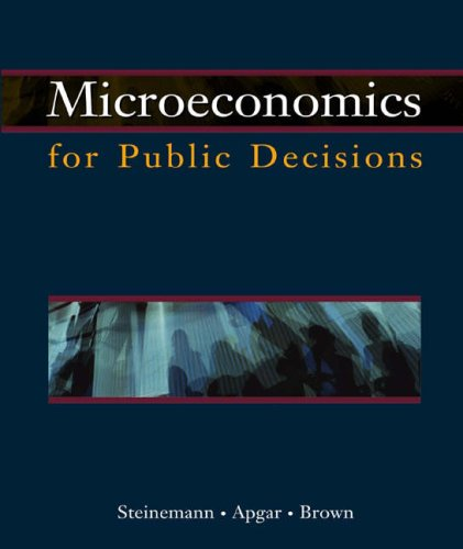 9780030264719: Microeconomics for Public Decisions with Economic Applications Card