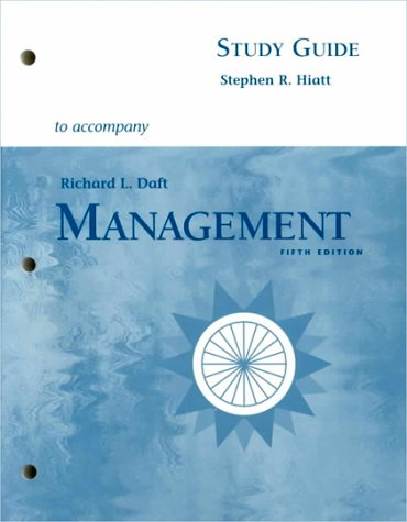 Management (Study Guide) (0030265118) by R. Hiatt