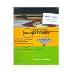 9780030265716: Exploring Macroeconomics: Pathways to Problem Solving