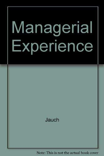 9780030266171: Managerial Experience (The Dryden Press series in management)