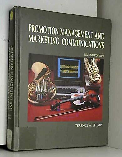 9780030266430: Promotion Management and Marketing Communications