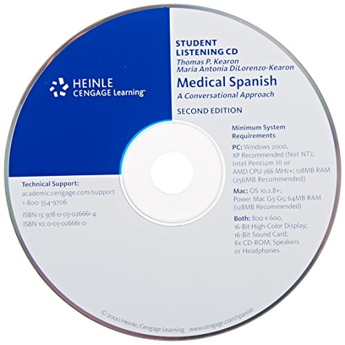 9780030266614: Audio CD for Medical Spanish: A Conversational Approach, 2nd